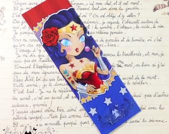 Wonder Woman glossy bookmark // DC comics fanart
