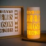 Paper cut 1st anniversary Luminary decoration