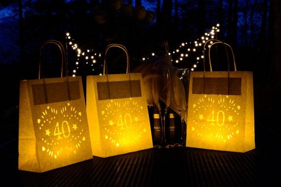 40 Geburtstag Laterne Taschen Perfekt 40 Party Deko Etsy