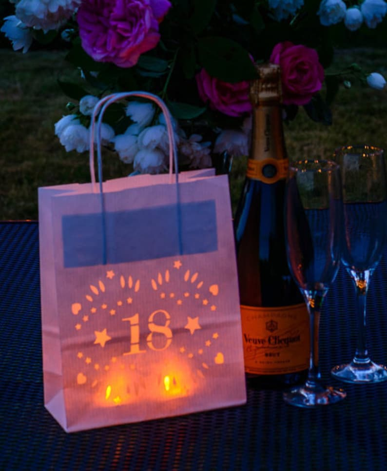 18th Birthday Decor Party Lantern Bags