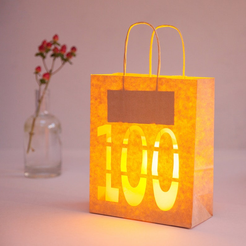 100th Birthday Party Decoration Lantern Bag