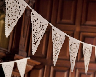 Wedding lace bunting, perfect romantic decoration for any wedding