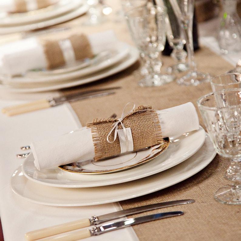 Rustic Wedding Decor Table Runners Set Of 6 Hessian Wedding Etsy