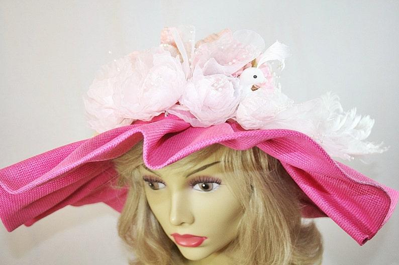 6d5c9883ffc4c LAST CHANCE SALE Kentucky Derby Hat Silk Fairy Rose Flower