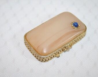 Vintage Estee Lauder Perfume Compact Treasure Box 1970s Vintage Compact Vintage Accessories
