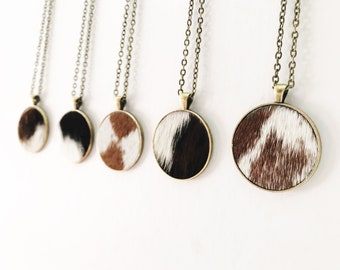 0ace191a32a Cowhide Necklace | Cowhide Jewelry | Ready To Ship
