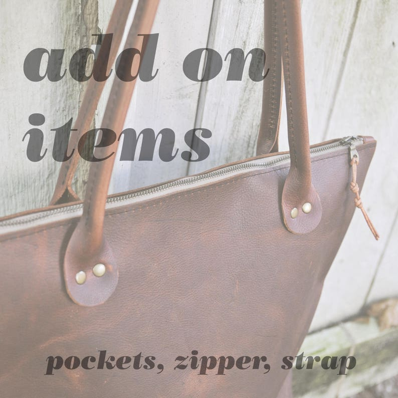 ADD ON ITEMS for all leather totes Pocket Brown leather image 0
