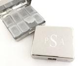 Monogram Pill Box, Personalized Pill Box, 7 Day Pill Box, Monogram Pill Organizer, Small Pill Box, Pill Holder