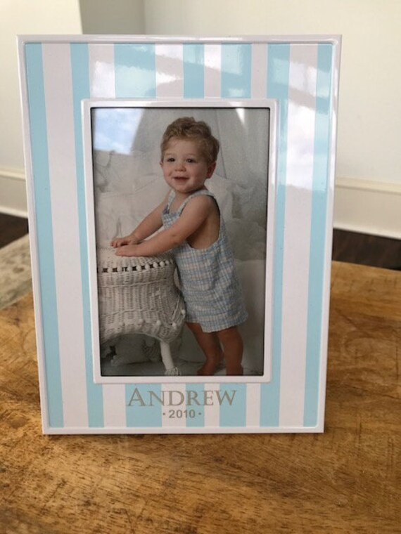 personalized baby boy picture frame christening gift baptism etsy