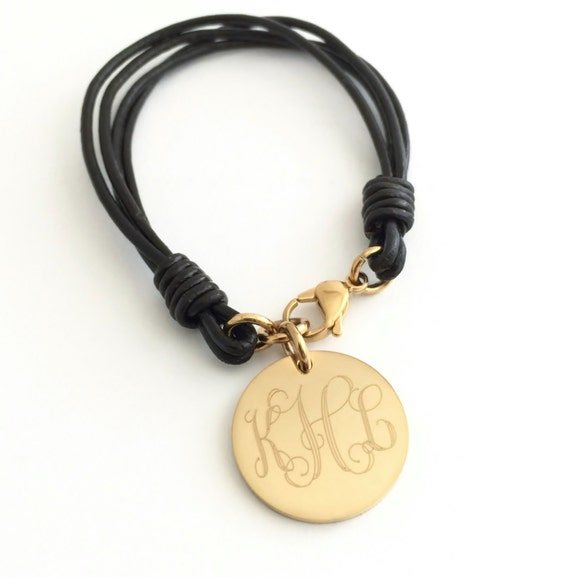 Personalized Leather Bracelets for Women Monogram Leather  d5fc44265