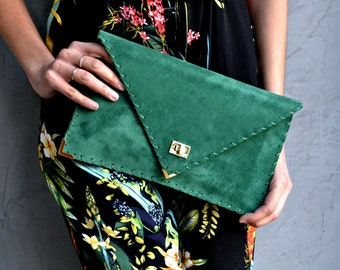 Emerald Soft Symmetria Clutch