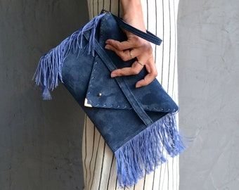 Small Medusa Clutch in blue raf