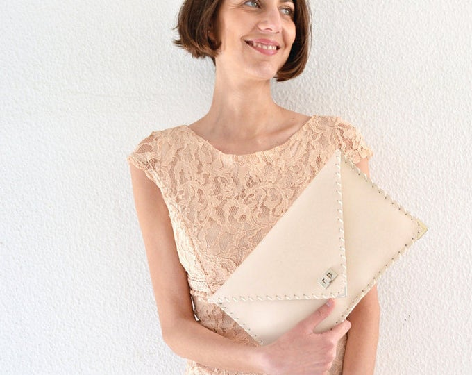 Featured listing image: Nude Leather clutch