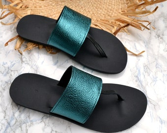 Elli sandals in petrol - black