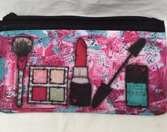 Make up bag, Zip Pouch