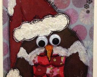 Christmas Robin greetings card