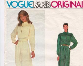 Vogue 2352 Vogue Paris Original Loose Fitting Pullover Dress Vintage Sewing Pattern, 1970s Nina Ricci, Size 14, Bust 36, Cut