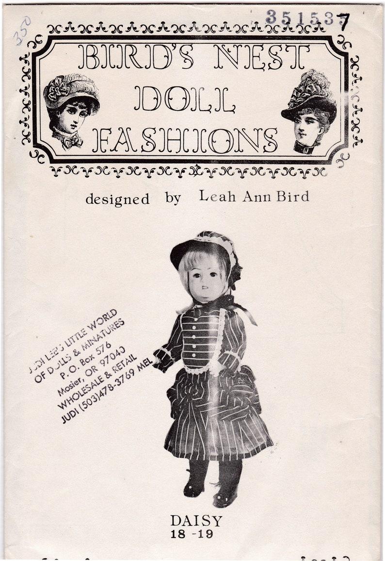 Leah Ann Bird Patterns Lot UNCUT 70s-80s Daisy Doll Pattern 18-19 inches and Leah Doll Pattern 19-20 inches Sewing Pattern