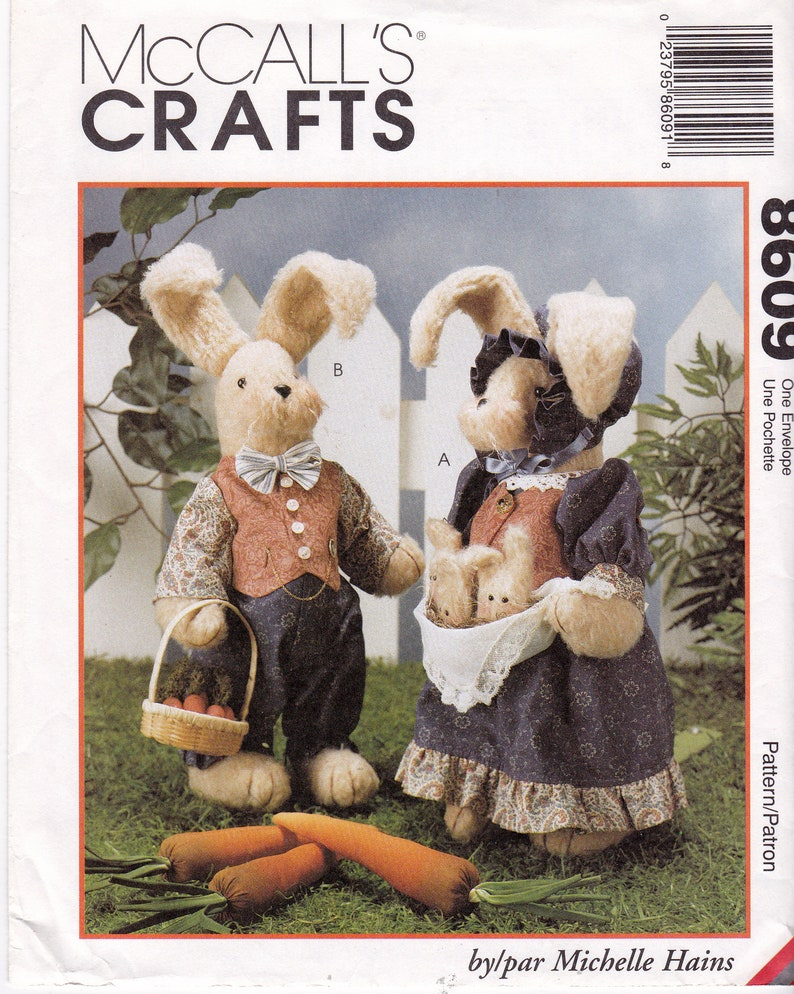 fd8185be4b1 FF McCalls 8609 Bunnies Sewing Pattern 18 Rabbits and