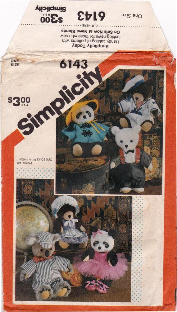 80er Jahre Einfachheit 6143 Garderobe für Chic Bären Tutu