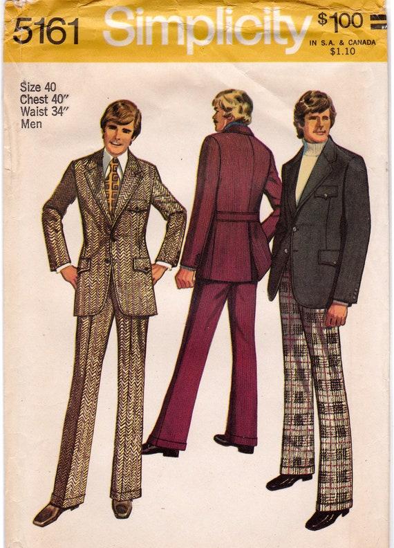 FF Einfachheit 5161 1970s Herren Anzug Muster Jacke mit | Etsy