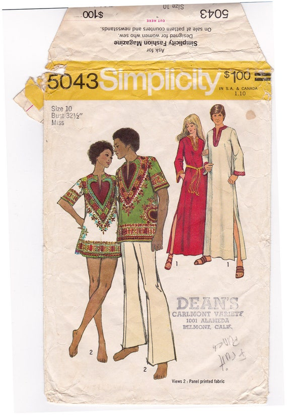 Einfachheit 5043 Herren Kaftan Dashiki Hemd Nähen Muster | Etsy