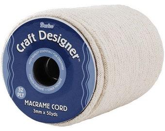 Craft Designer Cotton Macrame Cord Natural