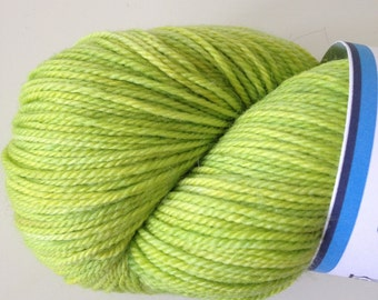 Hand Dyed Pagewood Farms Denali Lime Green Sock Yarn - Lime