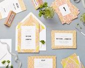Pink Mandala Wedding Stationery sample pack