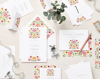 Love Amongst the Flowers Signature Wedding Stationery sample pack