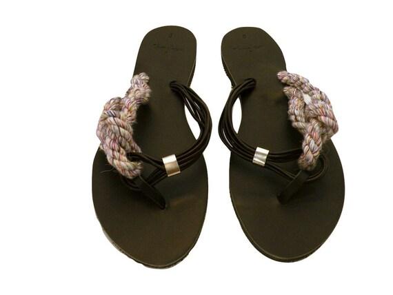 Corde ancienne chaussures de cuir cuir cuir grec - création Unique - sandales 523d54