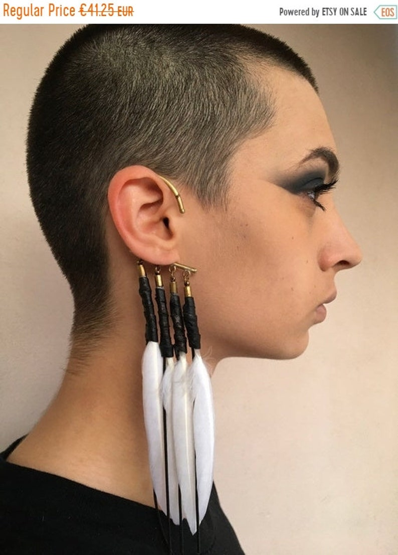 Cuff Feather Earring image 0