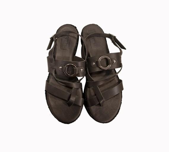 cddc4a0c6d572 Gladiator sandals - Open toe sandals - Ancient Greek sandals - Flatform  sandals - Grey sandals