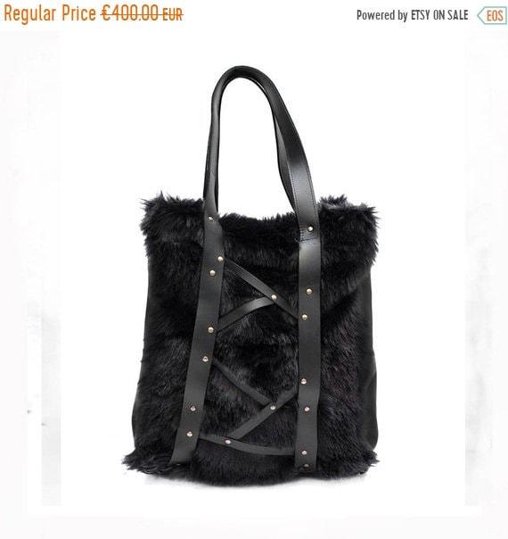 Fur bag Every day Shopping Bag Eco fair bag Handmade  83b6b5fc81366