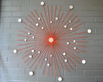 Choose Color 36 Inch Handmade Starburst Modern Metal Wall Art Mirrors Retro Style Decoration Sunburst Home House Staging Gift Housewarming