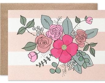 Mini Floral Blank Card