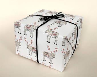 Reindeer Wrapping Sheet