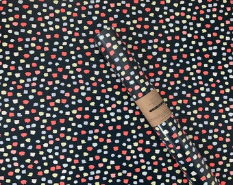 Neon and Navy Dot Wrapping Sheet
