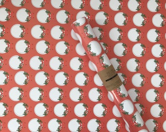 Holiday Wreath Wrapping Sheet