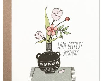 Deepest Sympathy Vase