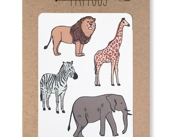 Safari Temporary Tattoos