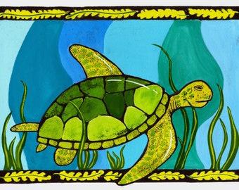 Sea Turtle Giclèe Wall Art Print