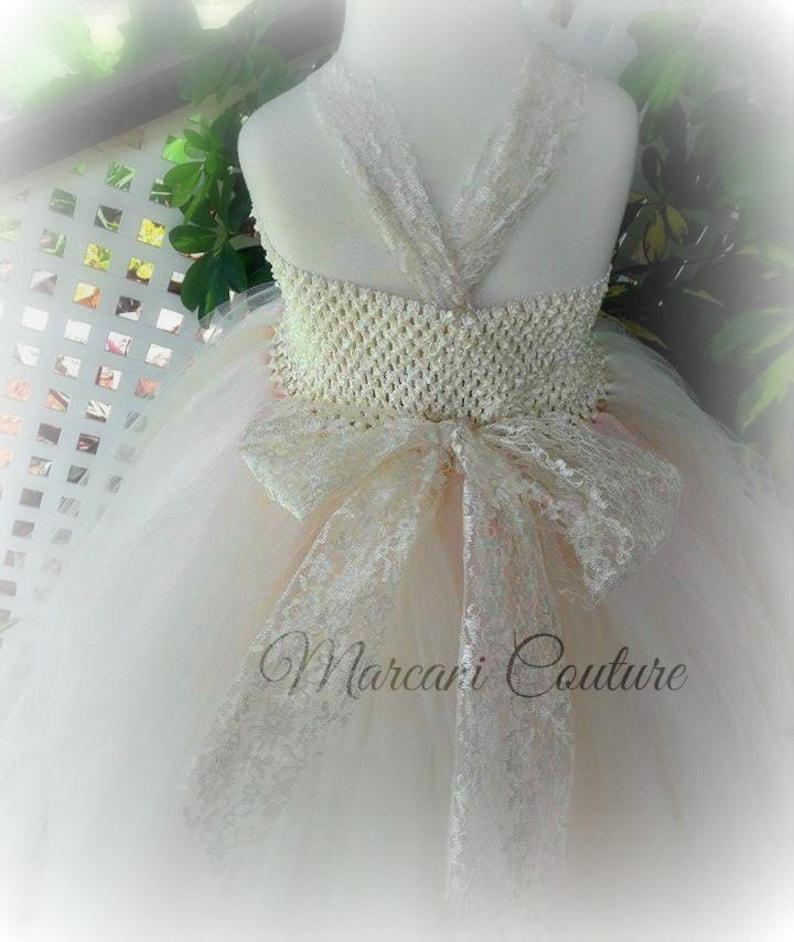 Pageant Dress.Vintage Dress. Flora Sol Gown Vintage Ivory Beige Blush Gown Custom FLOWER GIRL DRESS.Wedding..Junior Bridesmaid Dress