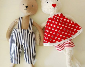 Pattern Reversible Dress & Trousers for Softies, PDF Sewing Instructions