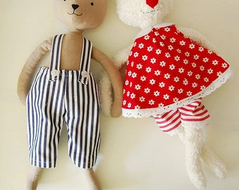Instructions: turn-dress + trousers for cuddly animal sewing
