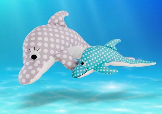 Delfin Nähen Ebook Dolli Delfin Anleitung Kuscheltier Nähen Etsy