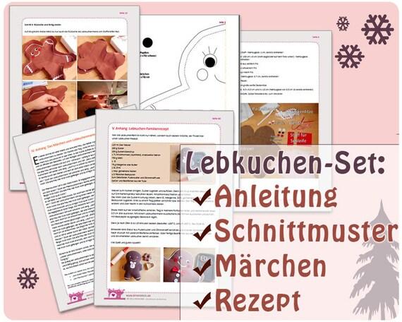 Lebkuchenmann Familie: Nähanleitung Weihnachten | Etsy