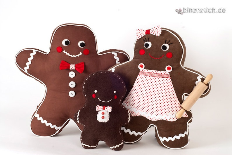 Gingerbread man  family: sewing Instructions Christmas image 0