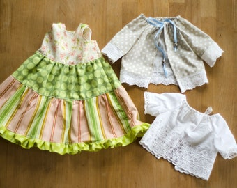 Sewing instructions: Step dress & shirt/blouse for soft toys sewing