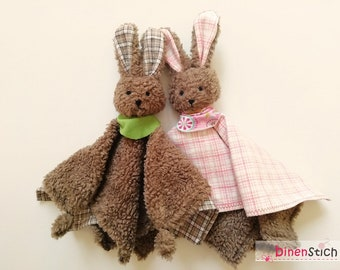 Sniffing cloth hare sewing: Instructions Sniffing bunny